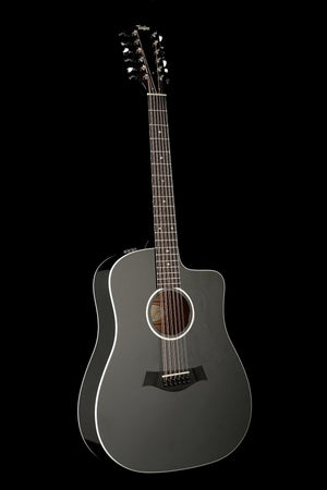 Taylor 250ce-BLK DLX 12-String Acoustic Electric Guitar