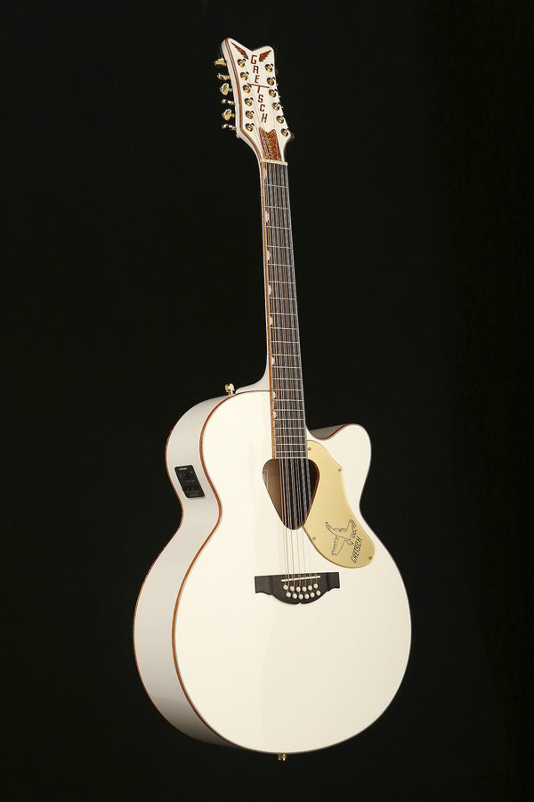 Gretsch G-5022CWFE Rancher White Falcon 12-String Acoustic Electric Guitar - acousticcentre