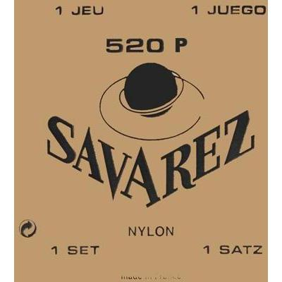Savarez 520 P Plastic Wound Treble w/ Nylon E / Traditional Basses Classical Guitar Strings