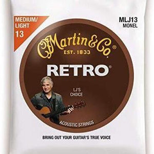 Martin MLJ13 Laurence Juber's Choice Retro Monel Acoustic Guitar Strings - .013 - .056