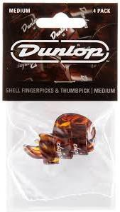 Dunlop Finger & Thumb Medium Shell Pick Player Pack