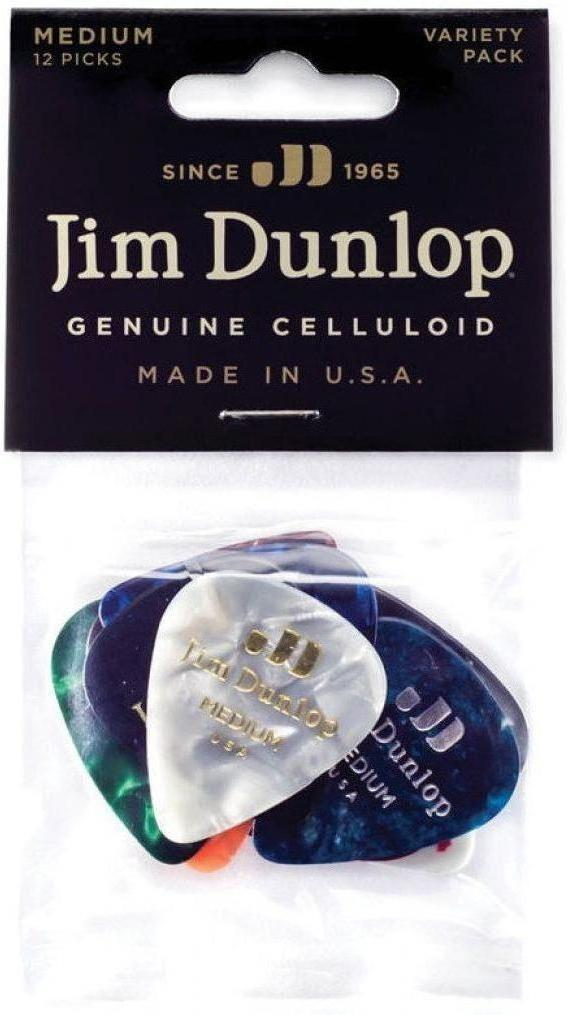 Jim Dunlop Genuine Celluloid Variety Picks - 12 Pack - acousticcentre