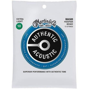 Martin Authentic Acoustic 12-String Phosphor Bronze Acoustic Strings