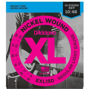 D'Addario EXL150 12-String Electric Guitar Strings - .010 - .047