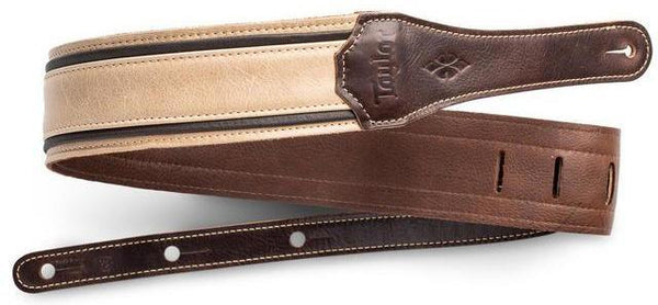 "Taylor Reflections 2.5"" Leather Guitar Strap - Spruce / Ebony"