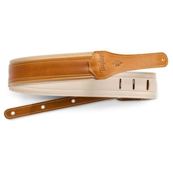 "Taylor Reflections 2.5"" Leather Guitar Strap - Palomino"
