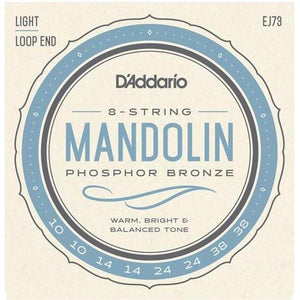 D'Addario Phosphor Bronze Loop End Mandolin Strings - acousticcentre