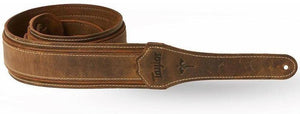 "Taylor Wings 2.5"" Dark Brown Leather Guitar Strap"