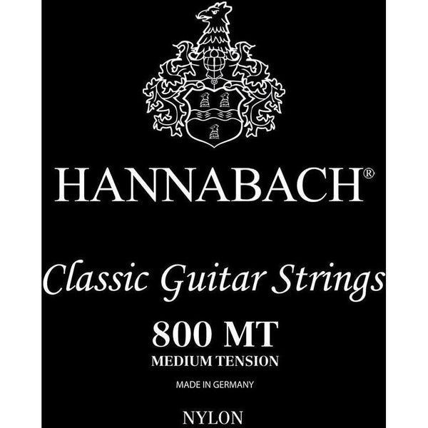 Hannabach Black 800 MT Medium Tension Classic Guitar Strings - acousticcentre