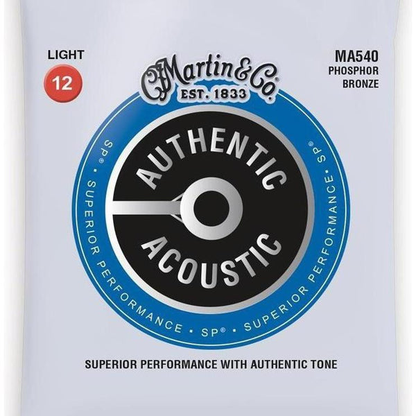Martin Authentic Phosphor Bronze Acoustic Guitar Strings