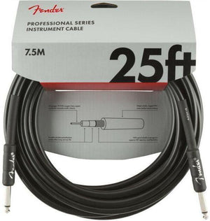 Fender Professional Series Black Angled Instrument Cables - acousticcentre