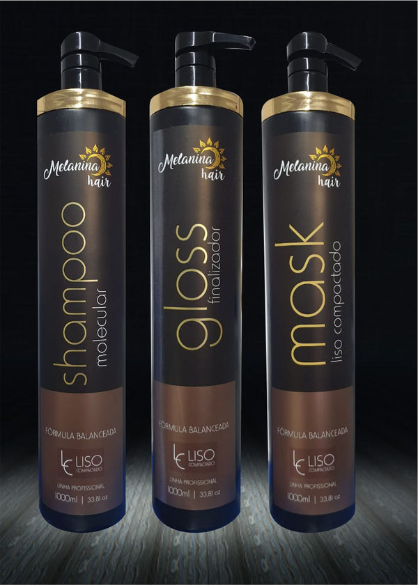 Kit Shampoo - Gloss - Mask Melanina Hair