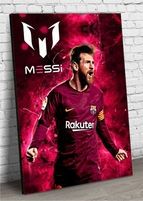 Quadro MDF Decorativo Messi