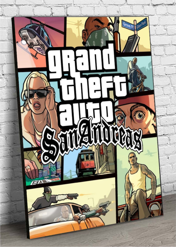 Quadro Decorativo MDF GTA San Andreas