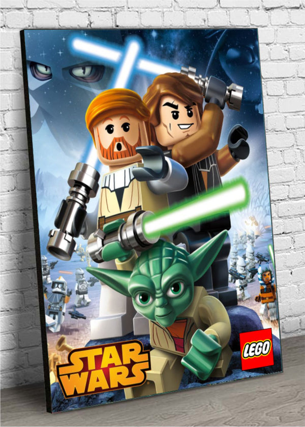 Quadro Decorativo MDF Lego Star Wars