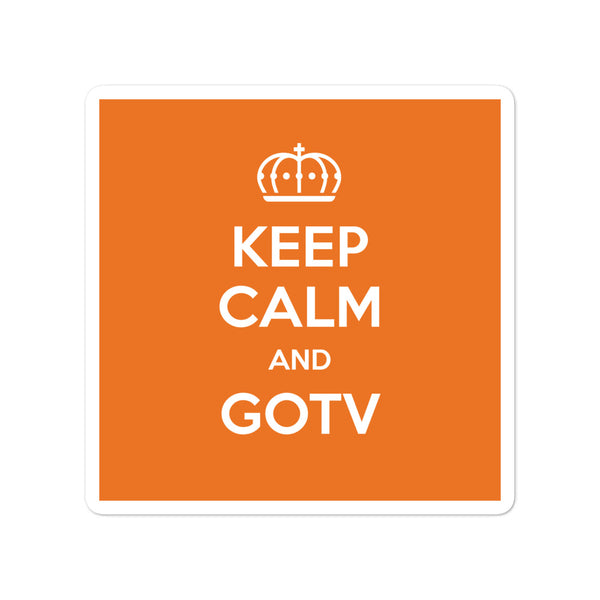 Keep Calm & GOTV Stickers