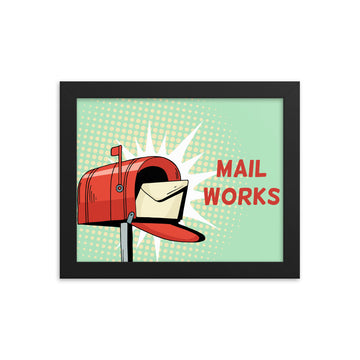 Mail Works Framed Poster