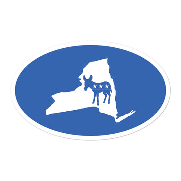 NY Democratic Sticker