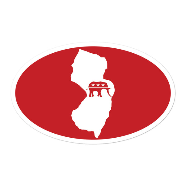 NJ Republican Sticker