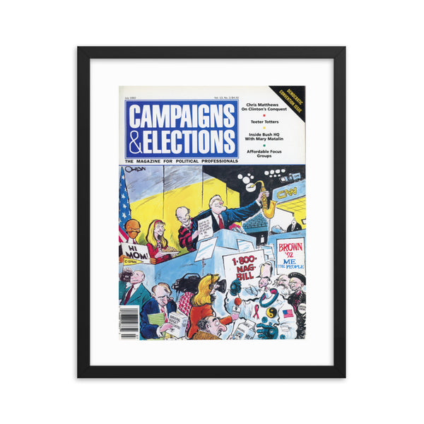 1992 Vintage C&E Cover Art: Democratic Convention Issue (Framed)