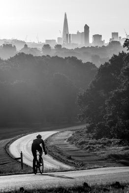 Cyclist at Dawn, Sawyers Hill, Richmond Park