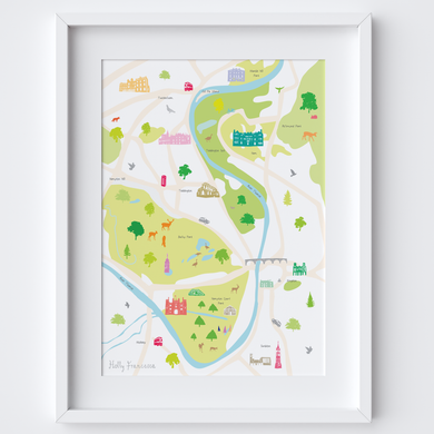 Map of Hampton Court Art Print