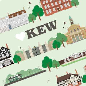 Kew Illustrated Print