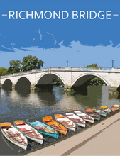 Load image into Gallery viewer, Richmond Bridge London Poster