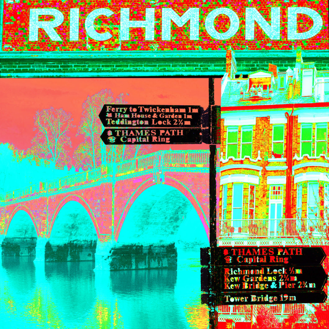 Richmond Collage Print (Corals & Turquoise)