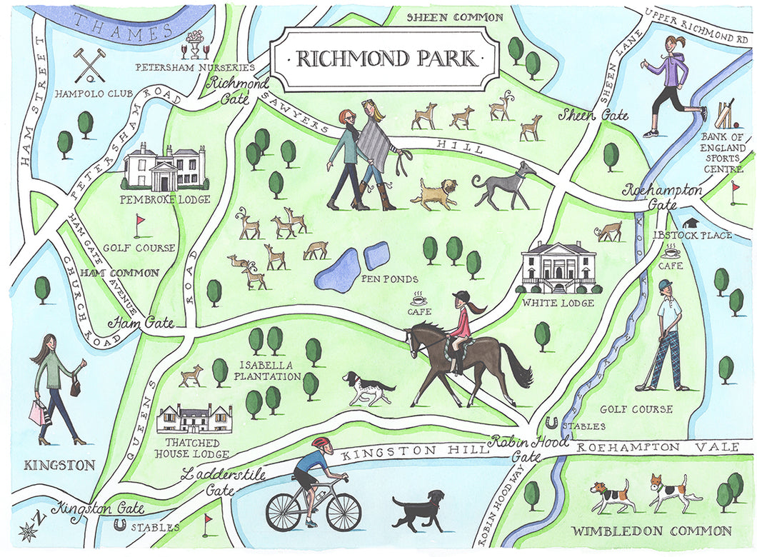 Richmond Park Map