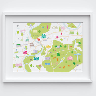 Richmond Map Art Print