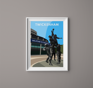 Twickenham Stadium Digital Prints