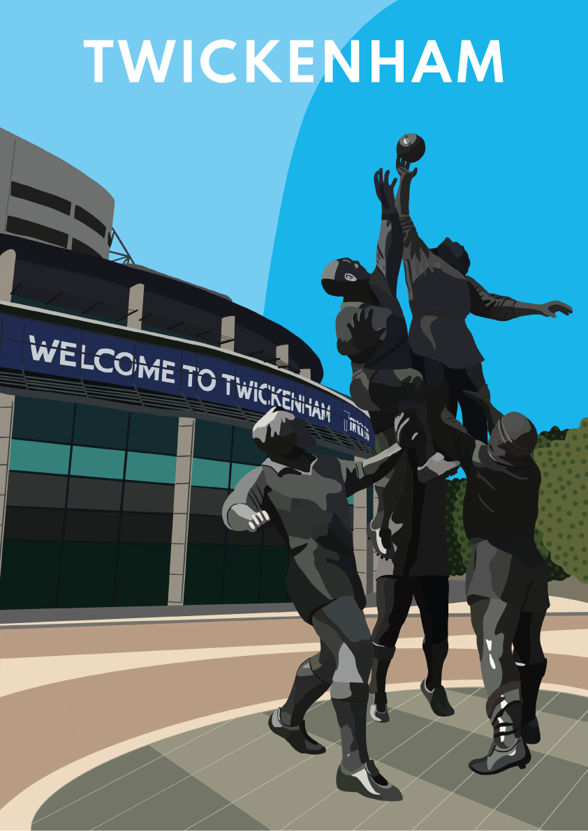 Twickenham Stadium Digital Print
