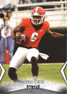 2018 Leaf Draft Football Cards: #28 Javon Wims