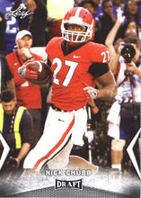 Load image into Gallery viewer, 2018 Leaf Draft Football Cards: #44 Nick Chubb