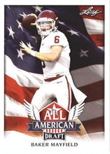 Load image into Gallery viewer, 2018 Leaf Draft Football Cards - All American: #AA-02 Baker Mayfield