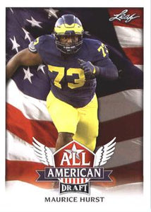 2018 Leaf Draft Football Cards - All American: #AA-08 Maurice Hurst