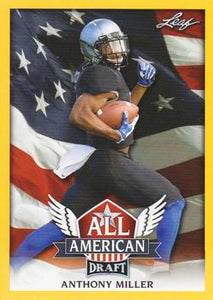 2018 Leaf Draft Football Cards - All American Gold: #AA-01 Anthony Miller