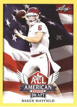 Load image into Gallery viewer, 2018 Leaf Draft Football Cards - All American Gold: #AA-02 Baker Mayfield