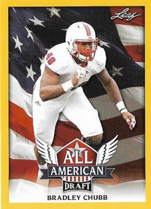 2018 Leaf Draft Football Cards - All American Gold: #AA-03 Bradley Chubb