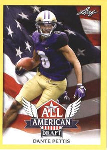 2018 Leaf Draft Football Cards - All American Gold: #AA-04 Dante Pettis