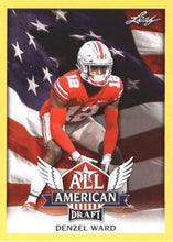 Load image into Gallery viewer, 2018 Leaf Draft Football Cards - All American Gold: #AA-05 Denzel Ward