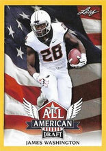 Load image into Gallery viewer, 2018 Leaf Draft Football Cards - All American Gold: #AA-06 James Washington