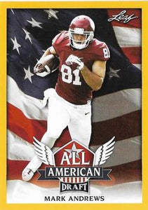 2018 Leaf Draft Football Cards - All American Gold: #AA-07 Mark Andrews