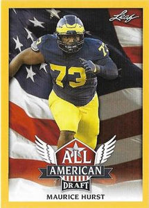 2018 Leaf Draft Football Cards - All American Gold: #AA-08 Maurice Hurst