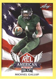 2018 Leaf Draft Football Cards - All American Gold: #AA-09 Michael Gallup