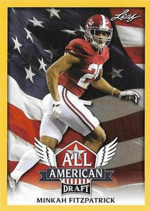 2018 Leaf Draft Football Cards - All American Gold: #AA-10 Minkah Fitzpatrick