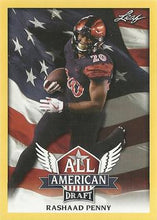 Load image into Gallery viewer, 2018 Leaf Draft Football Cards - All American Gold: #AA-11 Rashaad Penny