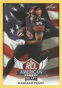 2018 Leaf Draft Football Cards - All American Gold: #AA-11 Rashaad Penny