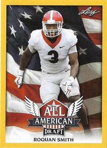 2018 Leaf Draft Football Cards - All American Gold: #AA-12 Roquan Smith